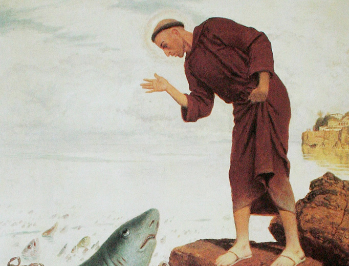 """Arnold Böcklin, """"St. Anthony Preaching to the Fishes"""" (1892)"""