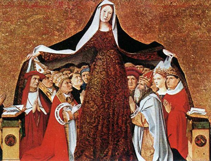 "Enguerrand Quarton, ""The Virgin of Mercy"", 1452"