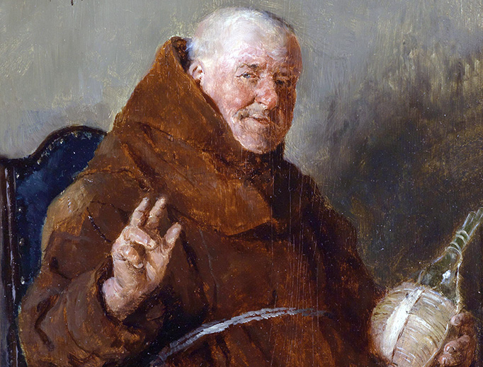 "Ernst Karl Georg Zimmermann, ""A Happy Monk,"" 1878"