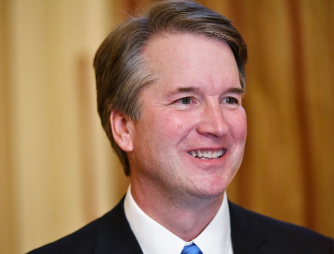 Supreme Court associate justice nominee Brett Kavanaugh attends a meeting with U.S. Senate Majority Leader Mitch McConnell at McConnell's office in the U.S. Capitol in Washington July 10.