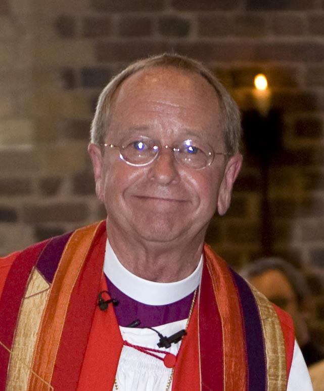 Homosexual Episcopalian Bishop Gene Robinson.