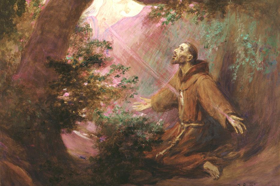 "José Benlliure y Gil  (1855–1937), ""Saint Francis Receives the Stigmata"""