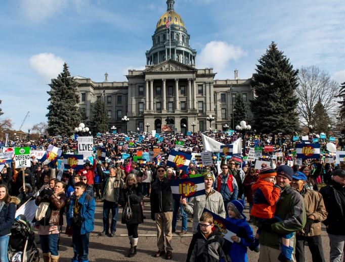 Above, Denver stands strong for the unborn, as did Chicago; Raleigh, N.C.; and Columbia, S.C. (below).