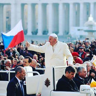 Pope Francis shares joy at a recent audience.