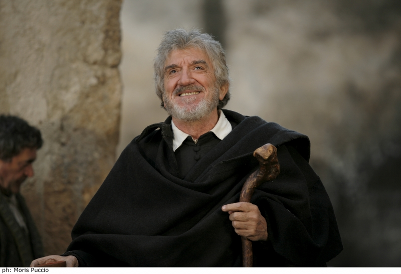 """Actor Gigi Proietti portraying St. Philip Neri in """"St. Philip Neri: I Prefer Heaven."""""""