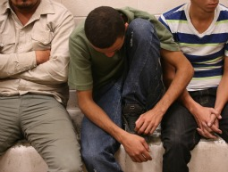 Undocumented immigrants rest at the U.S. Border Patrol detainee processing center in McAllen, Texas, on April 11.