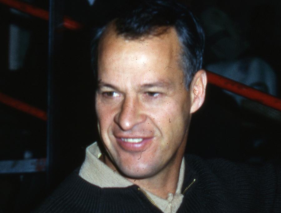 Gordie Howe visits Gordie Howe Hockeyland in St. Clair Shores, Michigan in 1966