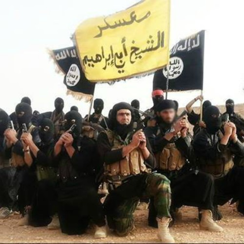 ISIS fighters photographed in Anbar, Iraq.