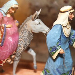 Resurrection hospital's Bethlehem Project is symbolized by a statue of Our Lady on a donkey accompanied by St. Joseph in the hospital's lobby. The program works to help women reverse their abortion procedures.