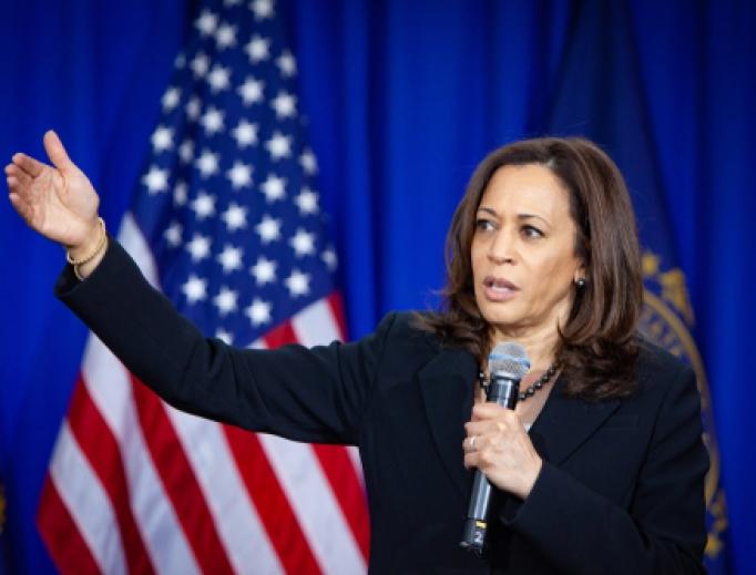 Democratic 2020 U.S. presidential candidate Kamala Harris campaigns in New Hampshire, April 24, 2019.