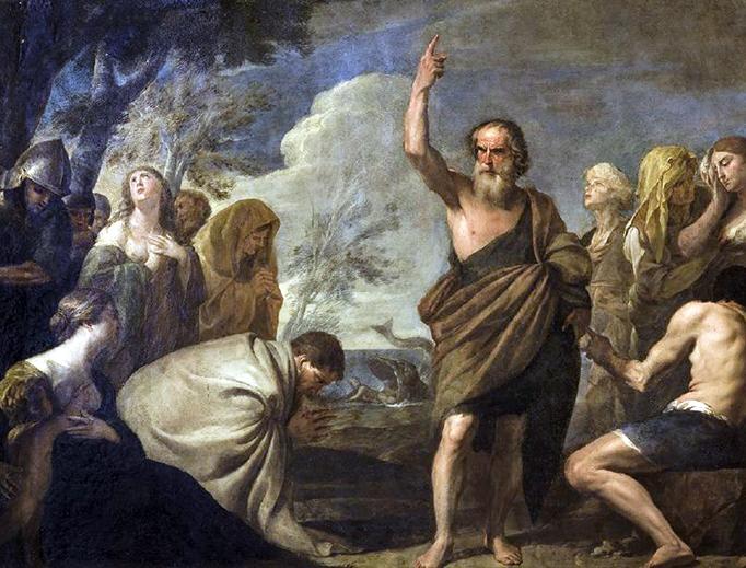"Andrea Vaccaro (1604–1670), ""Jonah Preaching to the Ninevites"""