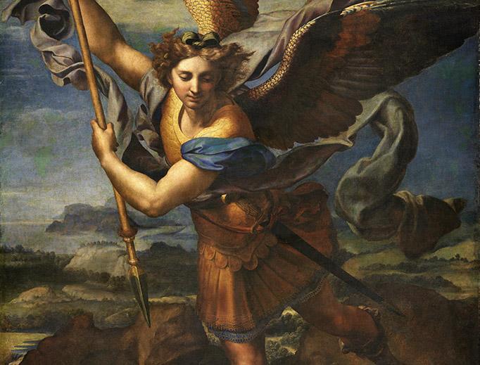 "Raphael, ""St. Michael Vanquishing Satan,"" 1518"