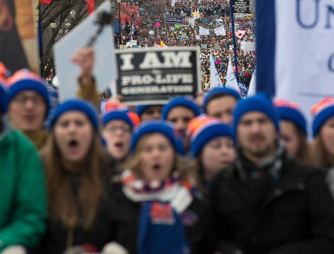 A throng of pro-lifers descended on Washington for the March for Life 2017 on Jan. 27.