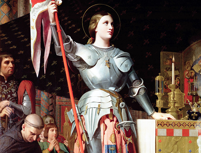 "Jean Auguste Dominique Ingres, ""Joan of Arc at the Coronation of Charles VII,"" 1854"