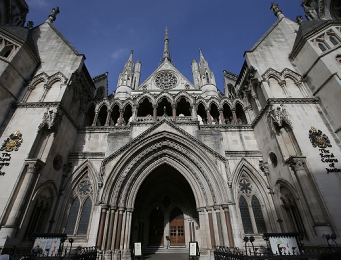 The Royal Courts of Justice building, which houses the High Court of England and Wales, is pictured in London Feb. 3, 2017.
