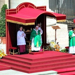 Pope Francis celebrates Mass for the Evangelium Vitae weekend on June 16 in St. Peter's Square.