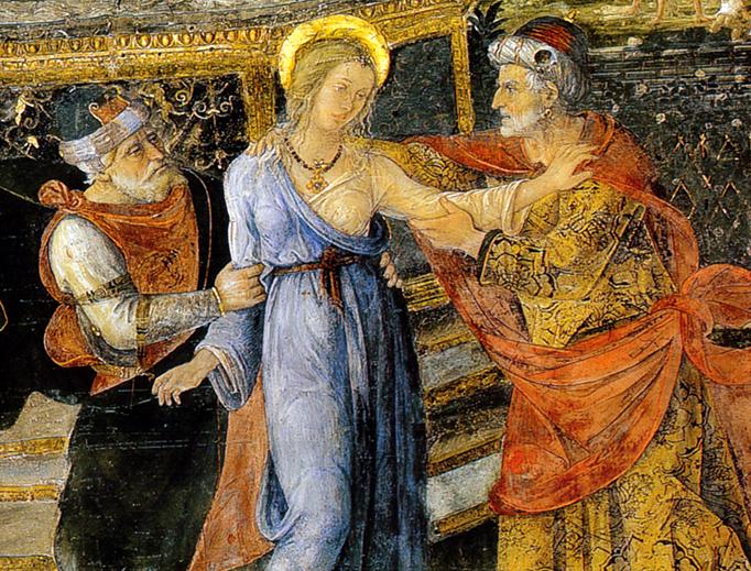 """""""Susanna and the Elders"""", Appartamento Borgia, ca. 1493"""