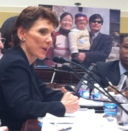 Reggie Littlejohn testifies at the emergency congressional hearing regarding Chen Guangcheng of May 3, 2012, before the Congressional Executive Commission on China.