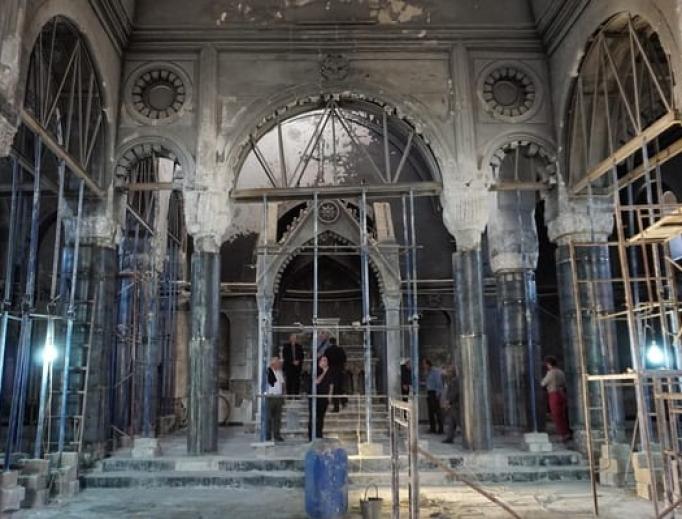 The remains of Immaculate Conception Church, Qaraqosh, Nineveh Plains.
