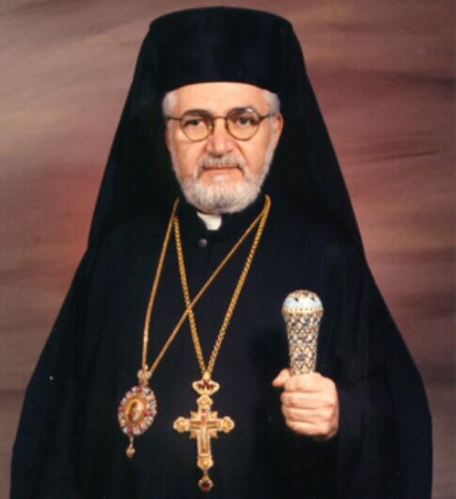 Bishop Nicholas Samra, the Melkite eparch of Newton, Mass.