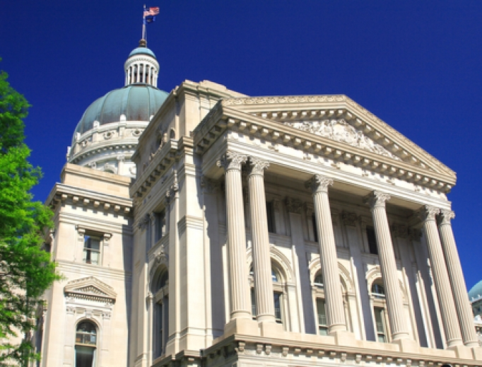 Statehouse of Indiana.