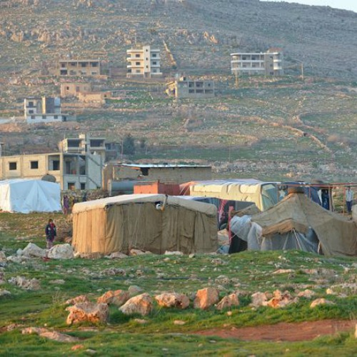 Syrian refugees in Qaa, a village in Lebanon's Bekaa province.