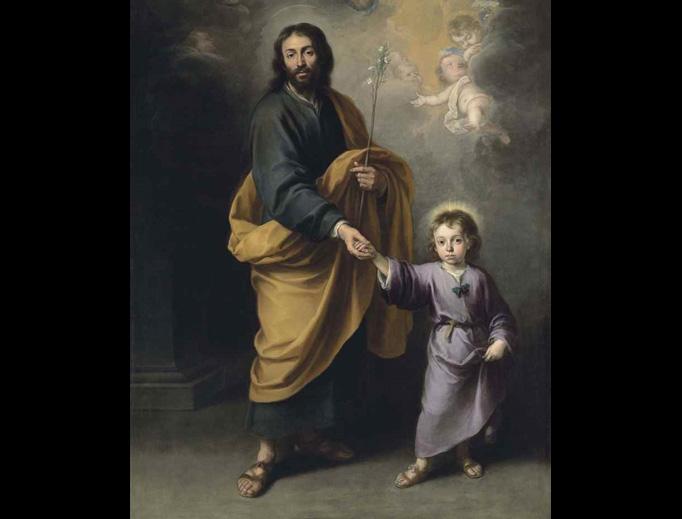 "Bartolomé Esteban Murillo (1617-1682), ""Saint Joseph and the Christ Child"""