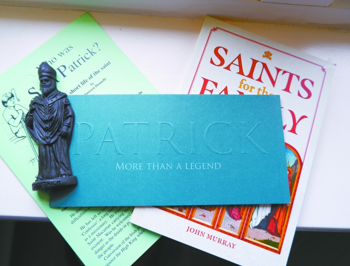 Images of St. Patrick are everywhere, from St. Patrick's Church in Downpatrick to the saint's tomb and mementos.