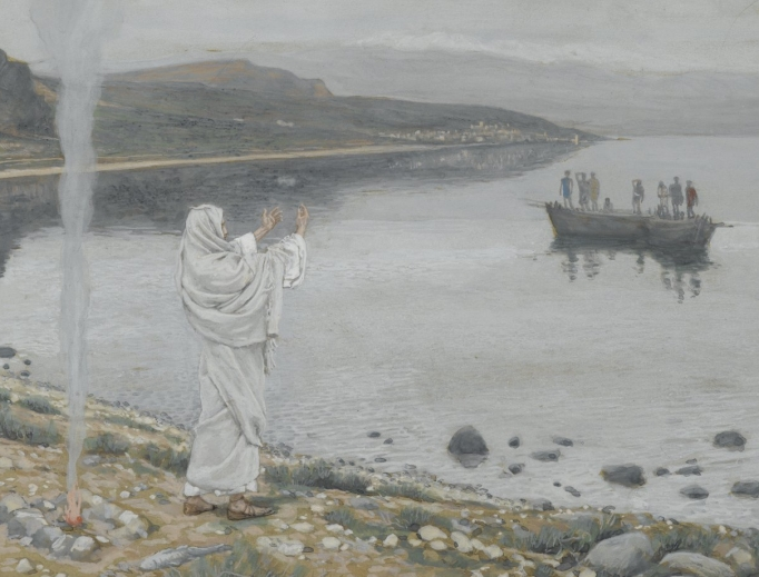 Christ Appears on the Shore of Lake Tiberias by James Tissot