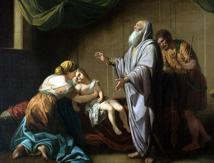 "Benjamin West, ""Elisha Raising the Shunammite's Son,"" 1766"
