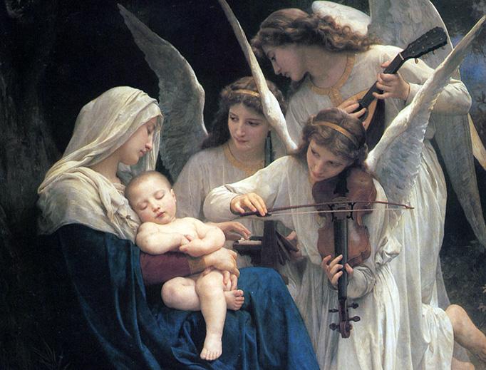 """William Bouguereau, """"La Vierge aux Anges"""", 1881"""