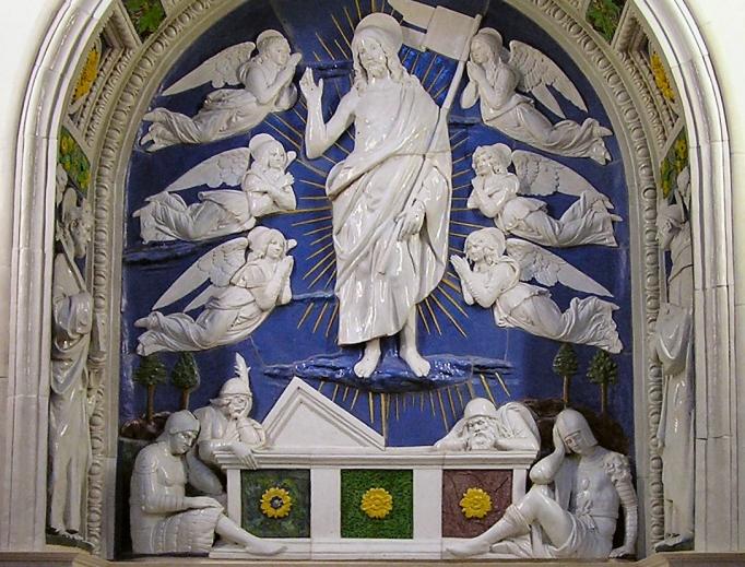 Resurrection image, Andrea Della Robbia