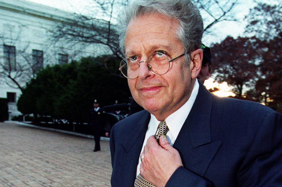 Laurence Tribe at the U.S. Supreme Court Building in 2000