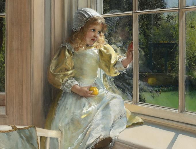 "Laura Theresa Alma-Tadema, ""A Looking Out O'Window, Sunshine"", 1881"