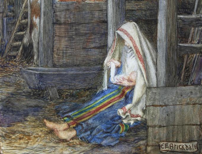 "Eleanor Fortescue-Brickdale (1872-1945), ""The Nativity"""