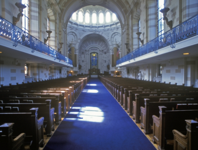 United States Naval Academy Chapel, Annapolis, Maryland.