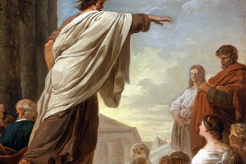 "Joseph-Benoît Suvée, ""The Predication of St. Paul,"" c. 1779"