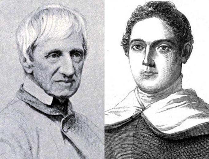 Blessed John Henry Newman (L) and Giacinto Achilli (R)