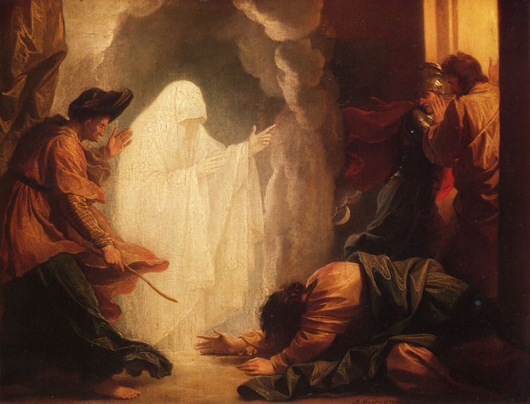 "Benjamin West, ""Saul and the Witch of Endor"" (1777)"