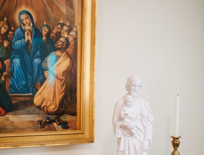 St. Joseph is an example of holy fatherhood.