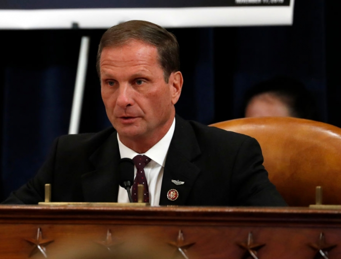 Rep. Chris Stewart, R-Utah, shown asking a question during the House Intelligence Committee impeachment inquiry on Capitol Hill Nov. 19, 2019, and a small group of other Republicans introduced the Fairness for All Act (FFA).