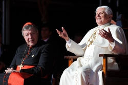 Cardinal George Pell and Pope Benedict XVI.