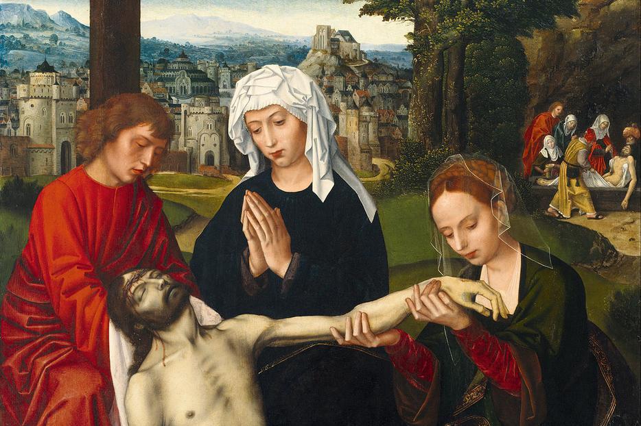 "Ambrosius Benson, ""Pietà at the Foot of the Cross,"" c. 1530"