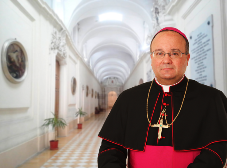 """Archbishop Charles Scicluna (pictured) is the author of the """"Maltese directive"""", along with Bishop Mario Grech of Gozo."""