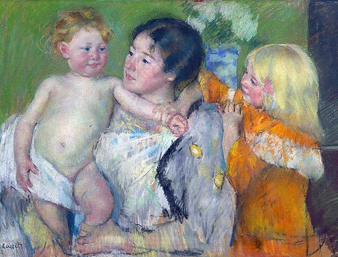 """Mary Cassatt, """"After the Bath"""", c. 1901"""