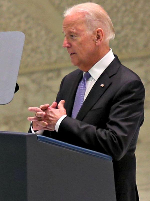 Vice President Joe Biden speaks at the International Conference on Regenerative Medicine at Vatican City on April 29.