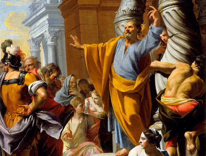 "Charles-François Poerson (1653-1725), ""Saint Peter Preaching in Jerusalem"""