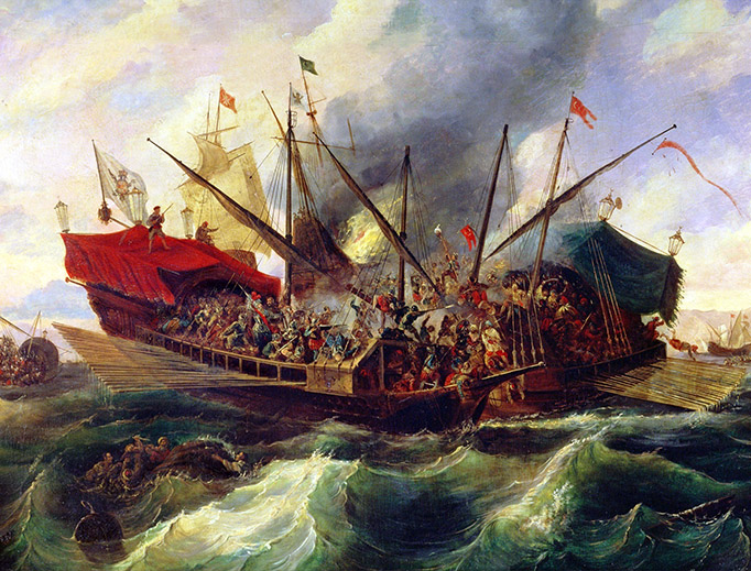 "Antonio de Brugada (1804-1863), ""The Battle of Lepanto"""