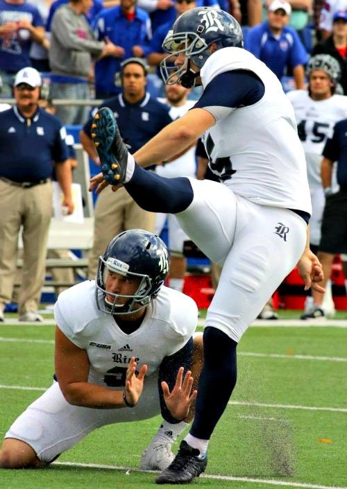 Rice University kicker James Hairston