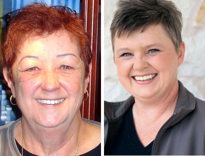 L TO R: Norma McCorvey and Pamela Whitehead